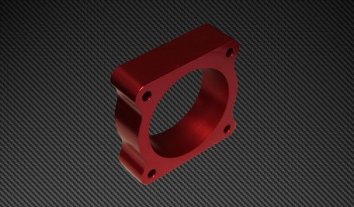 Torque Solution TS-TBS-022R Red Throttle Body Spacer(2013 Ford Focus ST)
