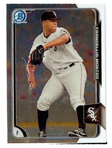 (Frankie Montas baseball card (White Sox Oakland Athletics Pitcher) 2015 Topps Bowman Chrome #BCP144 Rookie)