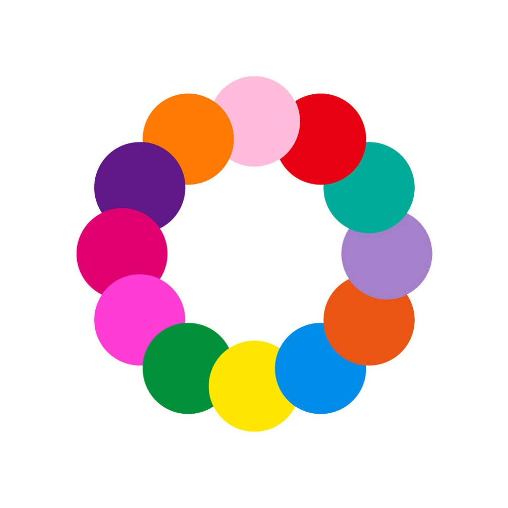 Exceart 12pcs Dry Erase Circles Dots Whiteboard Marker Removable Stickers Adhesive Wall Decal Spots for Office Classroom School Table 28cm