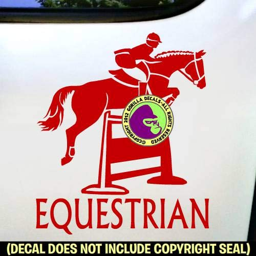 EQUESTRIAN Hunter Jumper #2 Horse Rider Show Vinyl Decal Sticker E