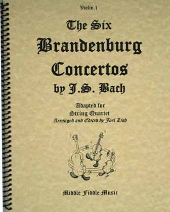 Six Brandenburg Concertos for String Quartet (2 Violins, Viola, & Cello)