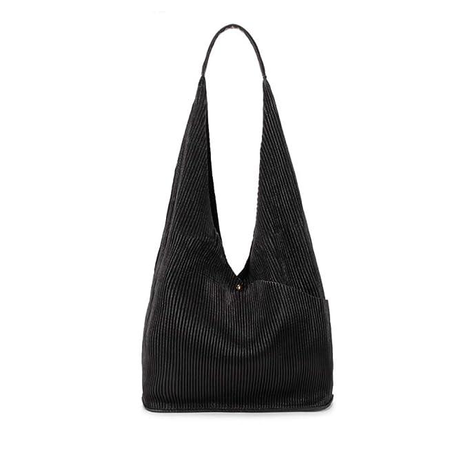 Bolso A Rayas Con Flecos, Bolso De Mujer, Bolso De Asa Suave,Black-OneSize: Amazon.es: Ropa y accesorios