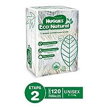 Huggies Eco Natural, Pañales Ecológicos para Bebé, Etapa 2, Paquete de 120