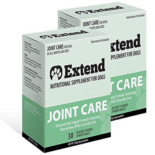 Extend Joint Care Natural Glucosamine with MSM for Dogs, 2 Box by Extend Pet Health
