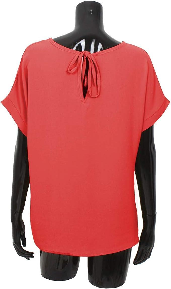 Emma /& Giovanni Made In Italy T-Shirt//Oberteile Oversize mit Kurzarm Segelstoffe - Damen