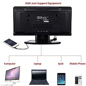 Protable CD Player VELOUR Slim Boombox with USB SD FM Radio Clock Mp3