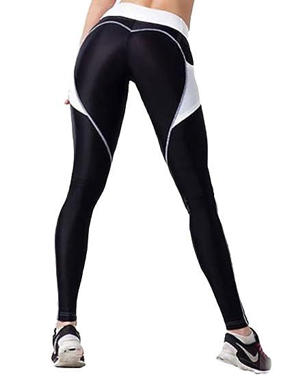 LaLaAreal Mallas Deportivas eggins Yoga Pantalon Elastico Cintura Altura PolainasCorriendo Pilates Fitness para L A-negro