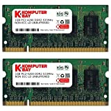 Komputerbay 2GB (2x 1GB) DDR2 533MHz PC2-4200 PC2-4300 (200 PIN) SODIMM Laptop Memory with Samsung semiconductors