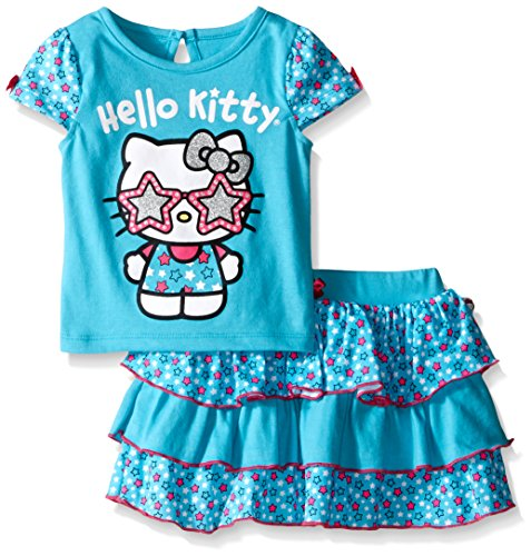 Hello Kitty Baby Girls' 2pc Top and Skirt Set, Capri, 12 Months