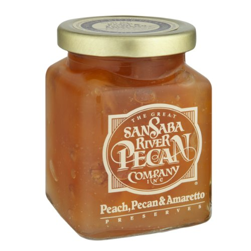 The Great San Saba River Pecan Company Peach Pecan & Amaretto Preserves 11 Ounce