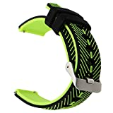 TRUMiRR 22mm Quick Release Watch Band Double Color Silicone Rubber Wrist Strap for Samsung Gear S3 Classic Frontier, Gear 2 Neo Live, Moto 360 2 46mm, Pebble Time, LG G Watch Urbane, Vector
