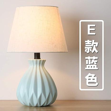 Lámpara de mesa de cerámica nórdica moderna minimalista sala ...