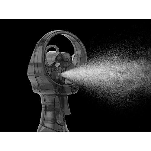 O2COOL Deluxe Misting Fan, Handheld Misting Fan, Battery Operated Fan, Water Spray Fan, Mini Portable Desk Fan, Personal Cooling Fan for Outdoor, Fine Mist Sprayer, Gray