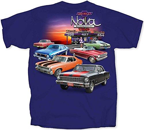 Chevrolet Nova T-Shirts 100% Cotton - Blue by Joe Blow T's, Blue, X-Large