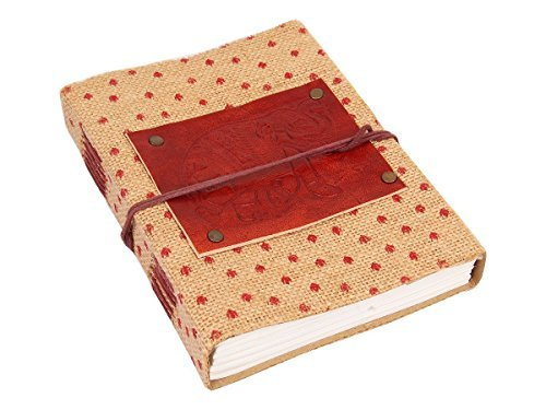 Leather & Jute Journal Diary Travel Notebook Embossed Sketchbook Elephant Motif with 96 Sheets Unlined Handmade Pages (8 X 6) (Kinder Halloween Poems)