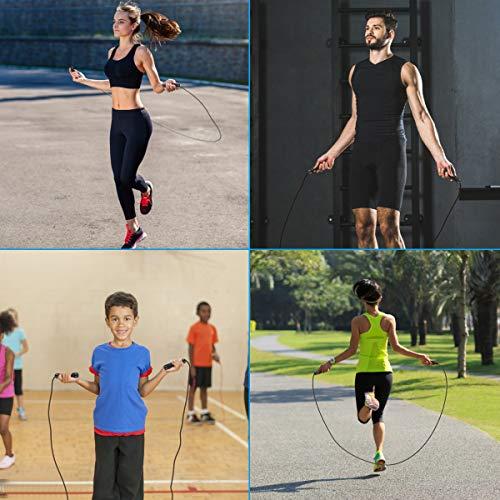 EZCO Corde à Sauter, Corde a Sauter Fitness Sport Maison Jump Rope Adaptée à Remise en Forme, à Boxe,Entraînement à Domicile