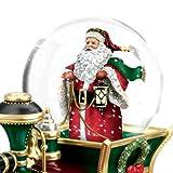 Thomas Kinkade Wonderland Express Santa Claus Is Comin To Town Mini Snow Globe Train