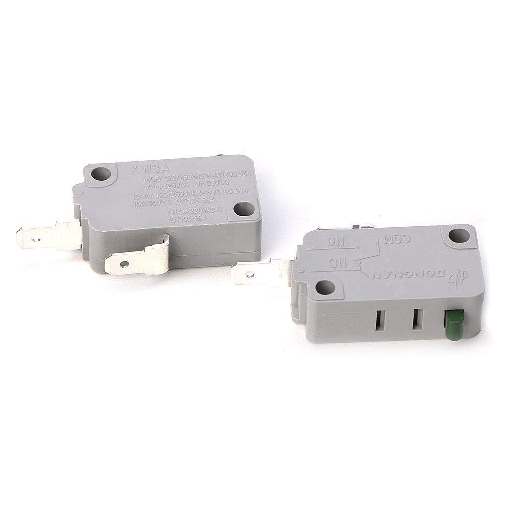 BIlinli 2Pcs KW3A Micro Interruptor Micro de la Puerta del Horno ...