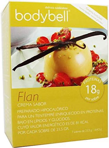 Bodybell Flan Vainilla 7 Sobres: Amazon.es: Salud y cuidado ...