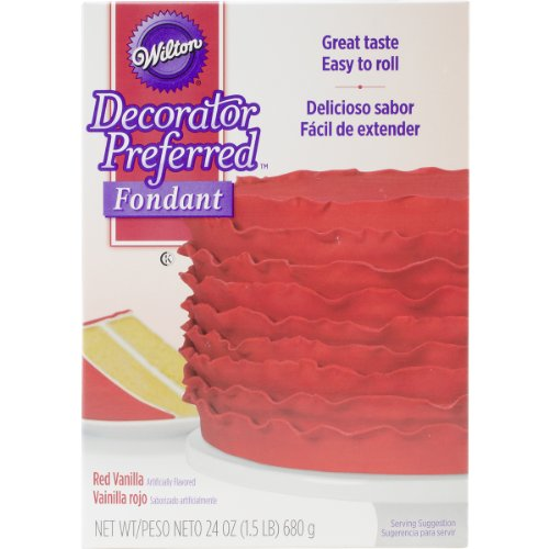 Wilton 710-2304 W7102-04 Decorator Preferred Fondant 24oz, 24 ounce, Red (Best Way To Make Red Icing)