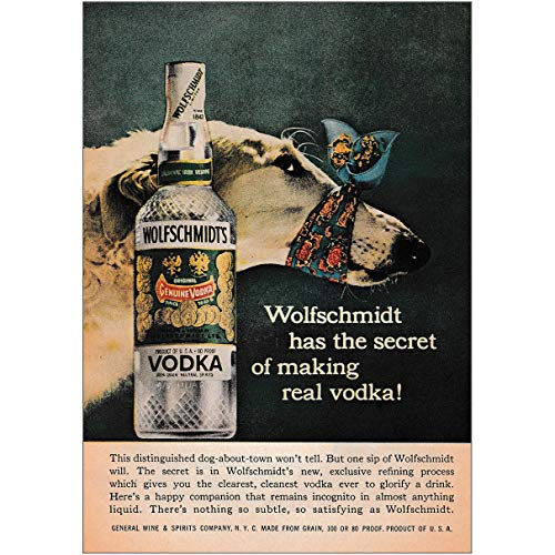 - RelicPaper 1958 Wolfschmidt Vodka: Secret of Making Real Vodka, Wolfschmidt Vodka Print Ad