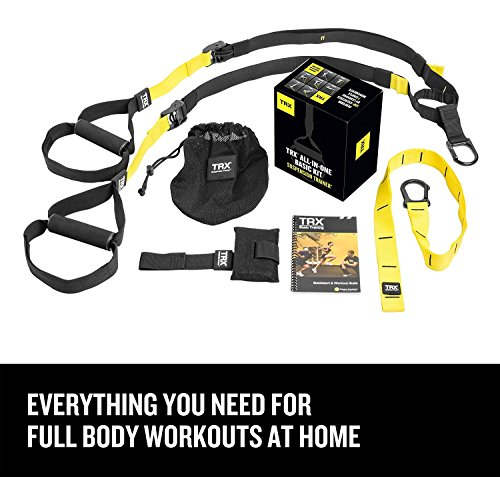 TRX Training - Suspension Trainer Basic Kit + Door Anchor, Complete Full Body Workouts Kit for Home and on the - Home Try