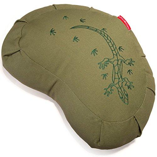 Peace Yoga ZafuMeditation Buckwheat Filled Crescent Cotton Bolster Pillow Cushion – Green