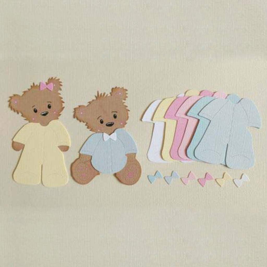 MIsha Die Cutting Dies Bear Clothes DIY Metal Cutting Dies Stencil Scrapbooking Photo Album Stamp Paper Card Crafts Decro