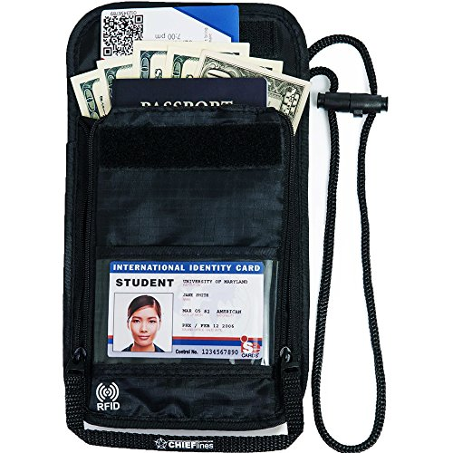 black-travel-neck-wallet-by-chieflines-lightweight-anti-theft-rfid-blocking-nylon-pouch-secure-your-