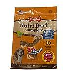 Cheap Nylabone 10 Count 3 Point Nutri Dent Complete Adult Filet Mignon Pouch Bone