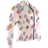 Ladninag Donut Mens Cycling Jersey Coat Long Sleeve Mountain Cycle Apparel Outfit