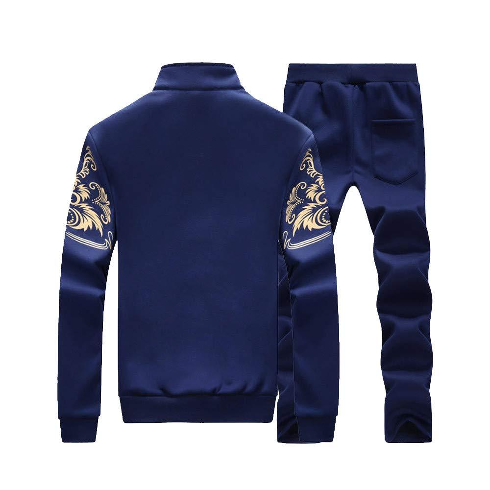 ELECTRI Survêtement de Sport Homme, Costume Sport Automne Hiver Grande Taille Imprimé Sweat-Shirt Top Pantalons Ensembles Outwear Chemisier Manches Longues