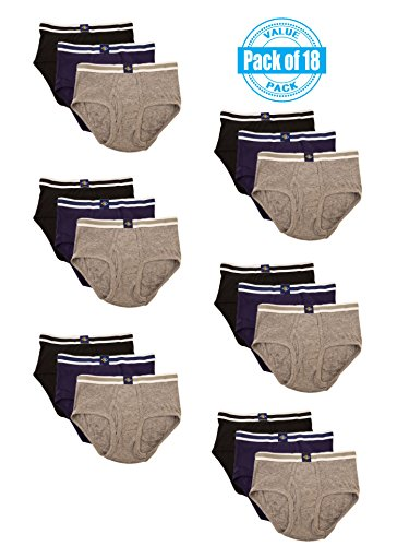 Joseph Abboud Boys 18 Pack Classics Full Cut Cotton Briefs (X-Large  18/20, Black /Grey/ Navy) by Joseph Abboud (Image #3)