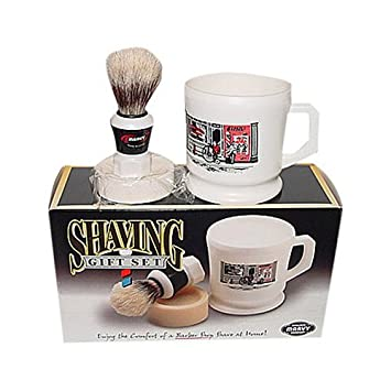 Amazoncom Marvy Shaving Gift Set Contains Mug Brush And Soap - Vinyl cup brush