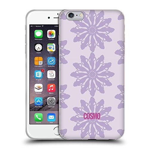 Official Cosmopolitan Violet Floral Patterns Soft Gel Case for Apple iPhone 6 Plus / 6s Plus