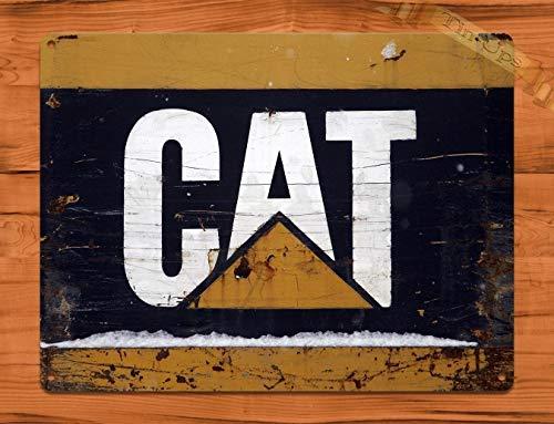 MMNGT Tin Sign Caterpillar Cat Vintage Heavy Equipment Rustic Wall Decor TIN Sign 7.8X11.8 ()