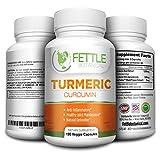 Tumeric Curcumin Turmeric Supplements Powder Capsules 1300mg Daily Dose 2 Month Natural Anti-inflammatory Supplements Antioxidant Supplements Veggie Caps Curcuma Longa Supplement Fettle Botanical Review