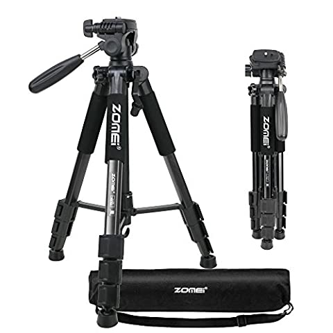 ZOMEI Q111 Portable Professional Light Weight Traveler Tripod with Pan Head for Camera DSLR DV Canon Nikon Sony,Black
