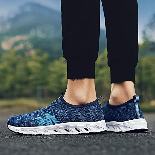 Farjing Men Outdoor Casual Breathable Mesh Comfortable Running Shoes Sneakers(US:10,Blue) by Farjing (Image #1)