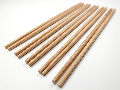 50 Pairs 10 Inch Natural Bamboo Chinese Chopsticks Engraved with Custom Logo - Choice of Corporation Buyers - Wholesale Washable High Quality Bamboo Chopsticks in Bulk for Wedding or Business Function by STONE&WOOD (Image #6)