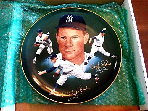 (Whitey Ford & Artist Paluso N.y. Yankees Hof Signed Auto Hackett L/e Plate - JSA Certified - MLB Autographed Miscellaneous Items)