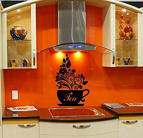 Wall Vinyl Sticker Decal Art Design Tea Cup Kitchen Cafe Room Nice Picture Decor Hall Wall TT8021