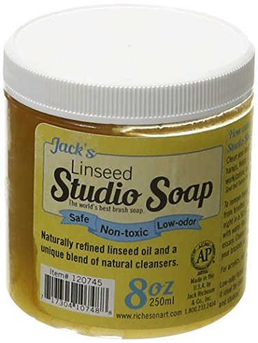 Jack Richeson 250 ml Linseed Studio Soap (Jacks Soap Linseed Studio)