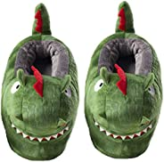 ixiton Kids Fluffy Cartoon Plush Animal Slippers,Cozy Boys and Girls Winter Warm Home Slippers,Fuzzy Non-Skid