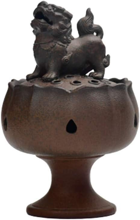 芳香器・アロマバーナー ロータスライオンXuande香炉アンティークホーム屋内香サンダルウッド香炉ホームデコレーションオーナメント アロマバーナー芳香器