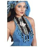 Unisex Native American Indian Costume Breastplate (Blue/Black)