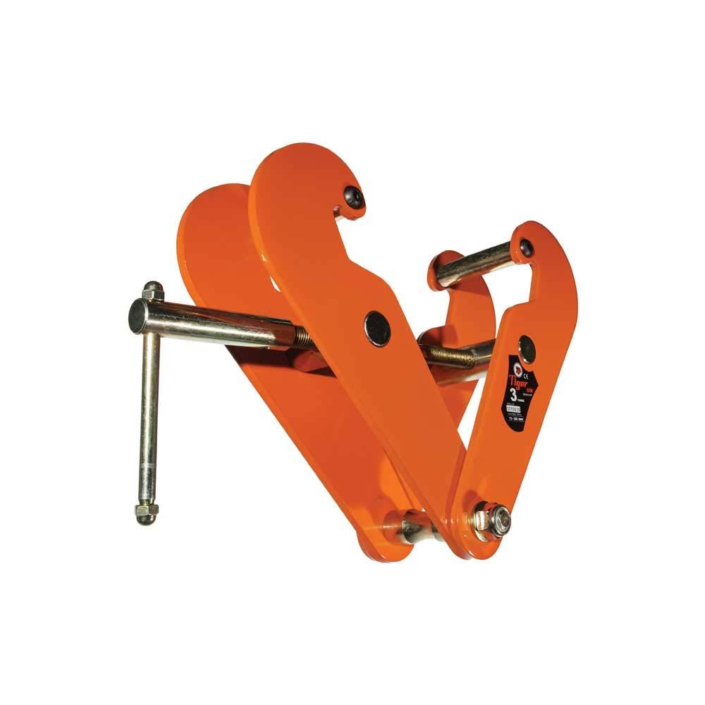 Tiger Lifting NA BC Adjustable Beam Clamp, 2.0t x 3''-8''