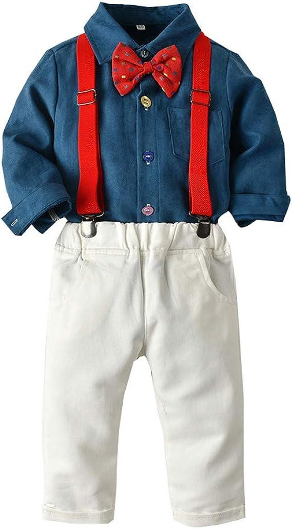 Amazon.com: Conjunto de ropa para niños con camisa de pana y ...