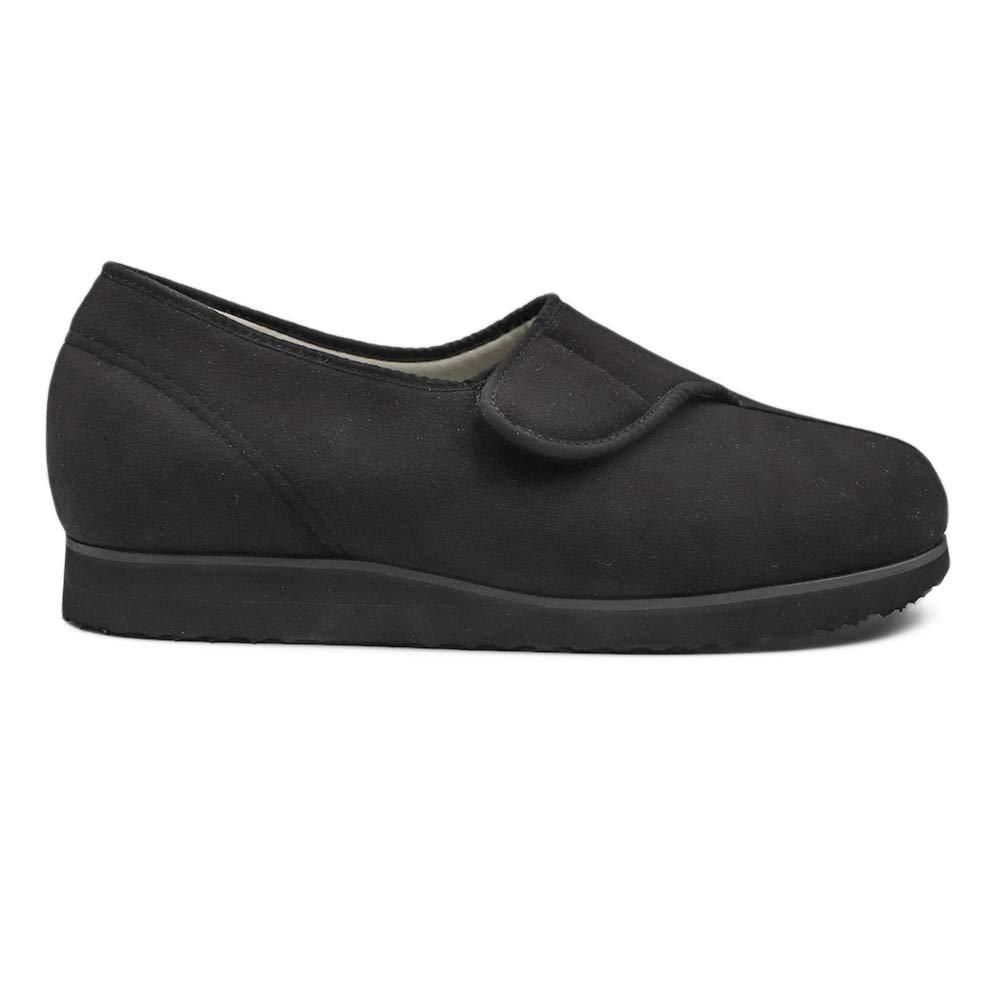 CHUANGLI Women Diabetic Slippers Arthritis Edema Memory Foam House Shoes Adjustable Swollen Feet Loafers