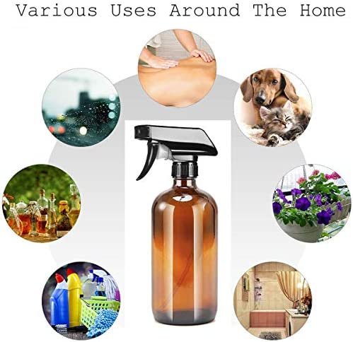 N-A Spray Bottle, Plastic Empty Trigger Sprayer Refillable Container for Cleaning and Gardening(Brown, 250ml)